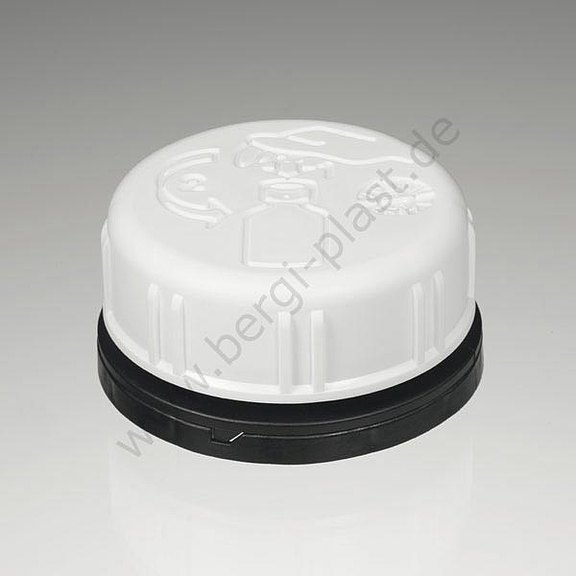 Canister caps DIN 45 child proof